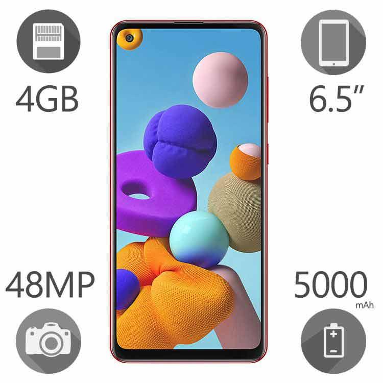 گوشی موبایل سامسونگ مدل Galaxy A21s ظرفیت ۶۴ گیگابایت رم ۴ گیگ دو سیم کارت