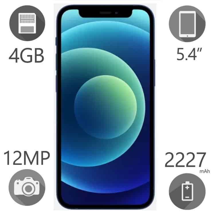 گوشی موبایل اپل مدل  iPhone 12 mini ظرفیت ۱۲۸ گیگابایت رم ۴ گیگ دو سیم کارت ZAA
