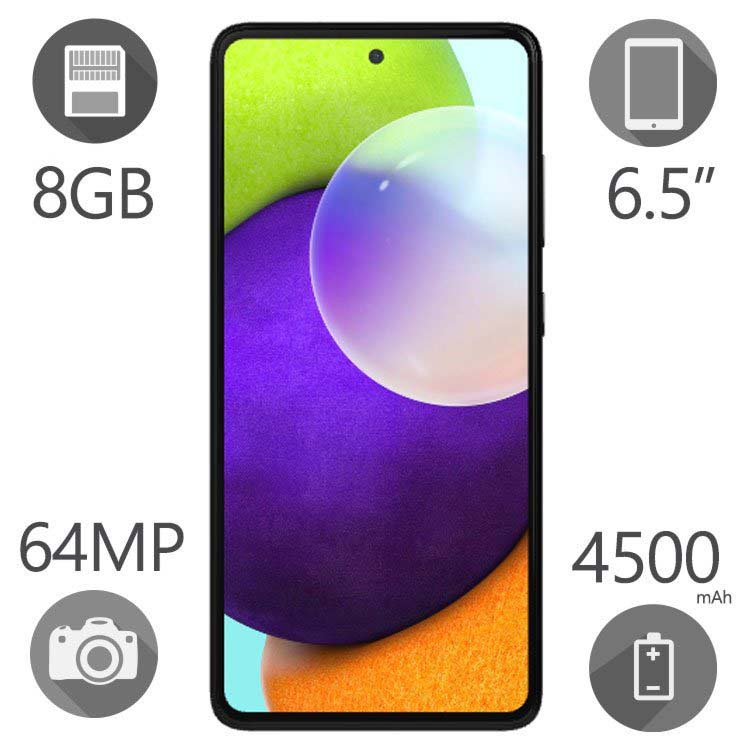 گوشی موبایل سامسونگ مدل Galaxy A52 ظرفیت ۲۵۶ گیگابایت رم ۸ گیگ دو سیم کارت ۴G