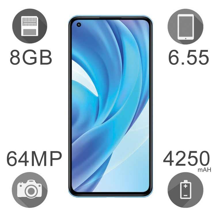 گوشی موبایل شیائومی مدل Mi 11 Lite ظرفیت ۱۲۸ گیگابایت رم ۸ گیگ دو سیم کارت ۴G