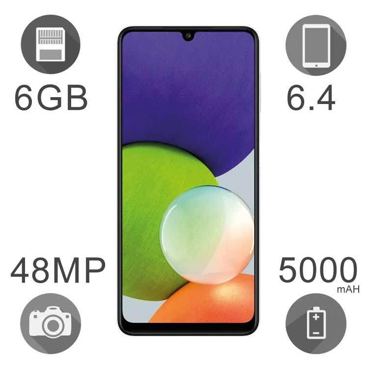 گوشی موبایل سامسونگ مدل Galaxy A22 ظرفیت ۱۲۸ گیگابایت رم ۶ گیگ دو سیم کارت ۴G